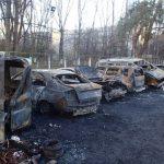 В Киеве за ночь сгорело восемь автомобилей, два повреждены частично
