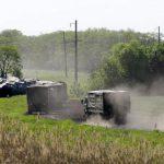 В сторону границы с Украиной направилась колонна российской военной техники, включая РСЗО «Ураган»