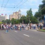 В Донецке прошел первый антивоенный митинг