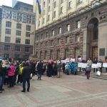 Под стенами КГГА провели митинг против незаконных застроек