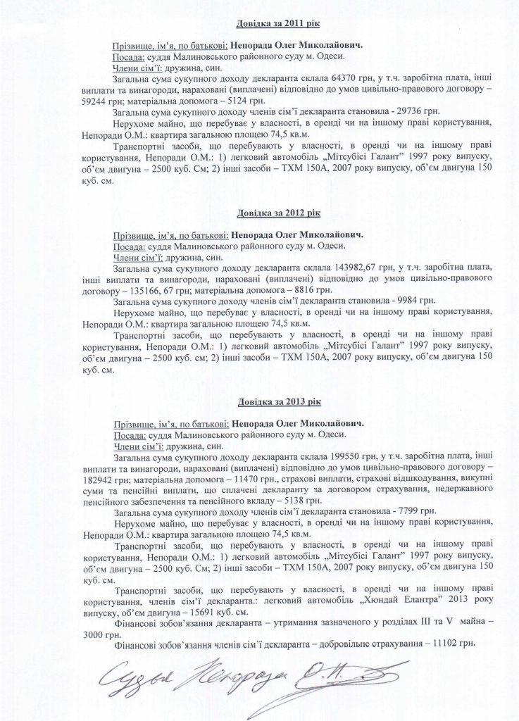 Судья Олег Непорада