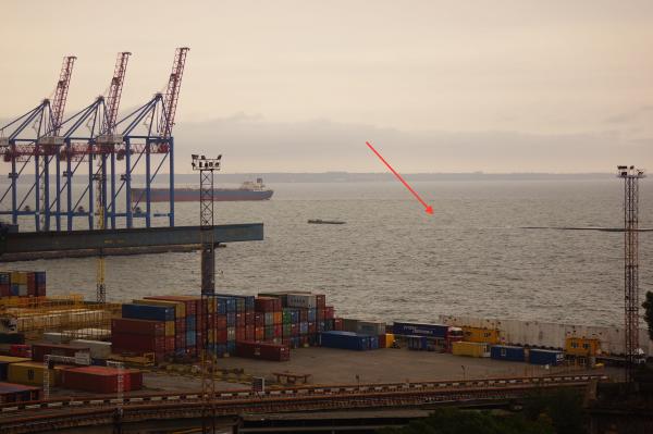 Утонувший волнолом в Одесском порту