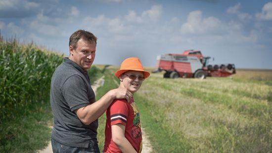 Виталий Скоцик с сыном