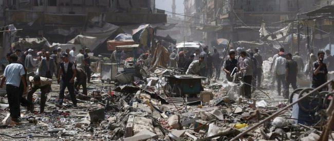 Бомбардировки в Сирии