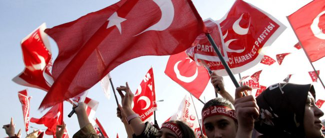 Демонстрация против Эрдогана