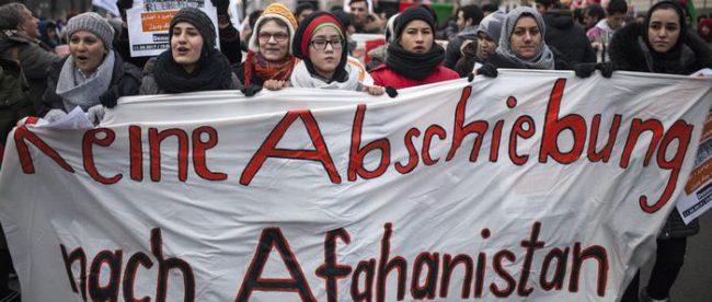 Протесты беженцев из Афганистана в Германии