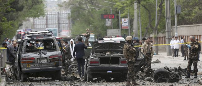 Мощный взрыв у посольства ФРГ