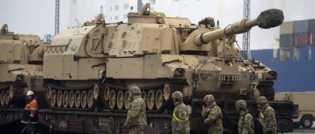 Американские солдаты в Польше