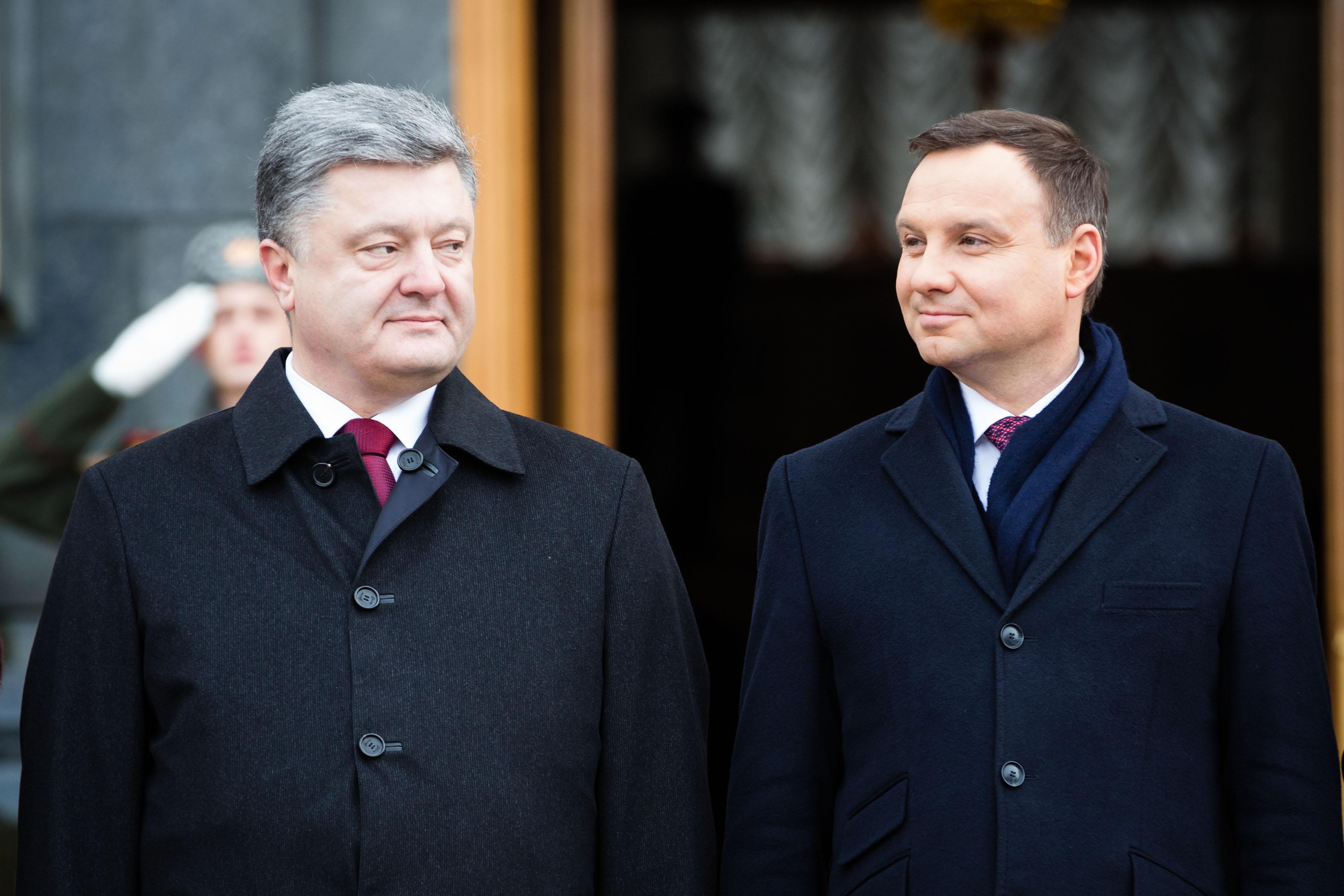 Анджей Дуда и Порошенко