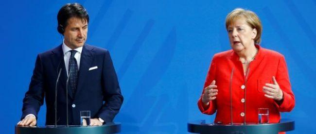 Джузеппе Конте и Ангела Меркель