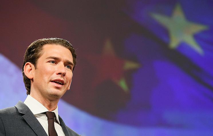 Австрийский канцлер Себастьян Курц