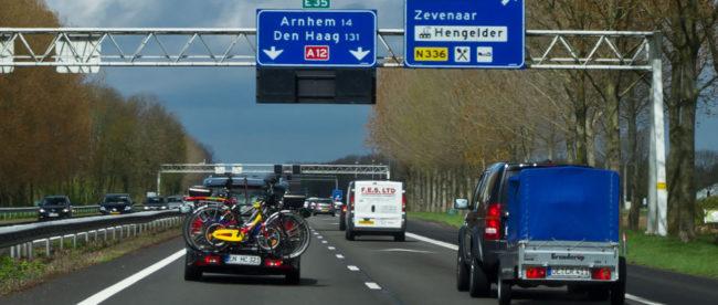 Полосы движения на автобанах