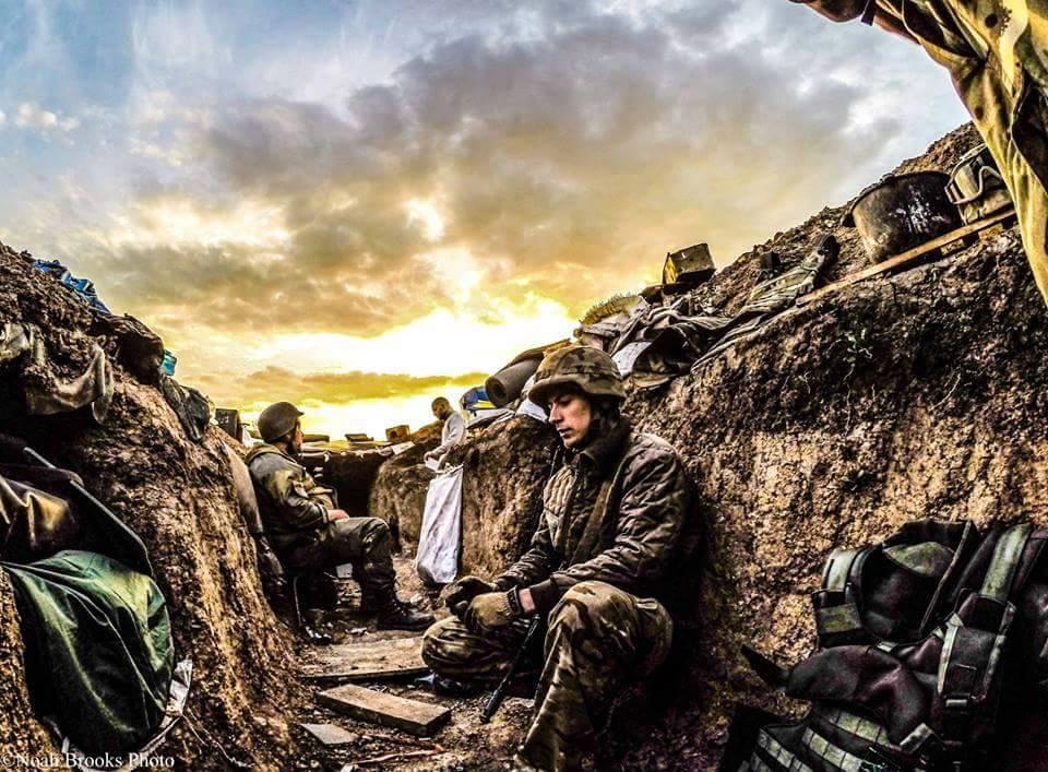 Солдаты на передовой