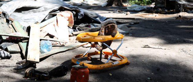 Один из цыганских лагерей в Киеве