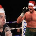 Певец Роби Уильямс и боксер Тайсон Фьюри записали рождественскую песню