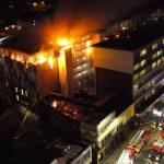 В одном из общежитий Болтона случился крупный пожар: было задействовано 200 пожарных и 40 машин