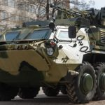 Проверка брони БТРов: военную технику обстреляли из пулеметов (видео)