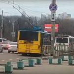 В Киеве возникли проблемы с движением троллейбусов