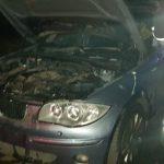 В Харькове сгорел припаркованный возле многоэтажки BMW (фото)