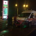 Ночью в центре Харькова скорая попала в ДТП (фото)