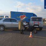 В Харькове скорая попала в ДТП
