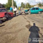 В Печенегах столкнулись две легковушки (фото)