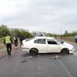 В Лозовском районе перевернулась Skoda Octavia — водитель погиб