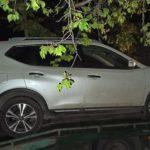 Пьяный водитель Nissan побил припаркованные авто и убегал от полиции (видео)