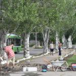 В центре Северодонецка идет реконструкция тротуаров