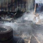 В Мариуполе на территории склада ликвидировали пожар