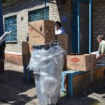 В одну из больниц Краматорска в рамках борьбы с коронавирусом волонтеры передали средства гигиены