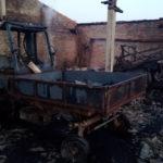 В Волчанском районе сожгли принадлежащую фермеру сельхозтехнику