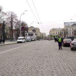 В центре Харькова ограничено движение транспорта